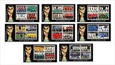 2010 SOCCER WORLD CUP 8 SOUVENIR SHEETS MNH UNPERFORATED