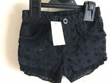 BNWT Baby Gap Black Shorts/ Hotpants. Girls. Age 6 - 12 Months. Lace Design