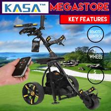 Virtual Electric Powered Golf Buggy W/Far Off Trolley 3-Wheel 18 Holes Power