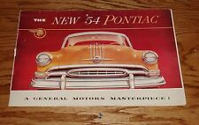 Original 1954 Pontiac Star Chief & Chieftain Sales Brochure 54
