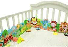 Baby bed Bumper Crib Mobile Cloth Book Around Soft Plush Educational Cot Animals