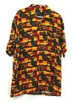 Towncraft Men's L Short Sleeve Hawaiian Shirt Summer Cool Beach Pineapple Red