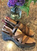 BORN D26323 Negril Strappy Slingback Open Toe Clogs Sandals SIZE EU 42 • US 10