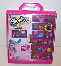 SHOPKINS ADORABLE STORE COLLECTOR'S CASE w/STICKERS & 2 EXCLUSIVE SHOPKINS NEW!