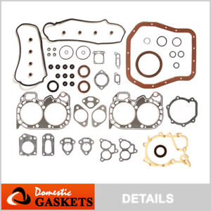 Fits 85-94 Subaru 1800 Loyale 1.8L SOHC Full Gasket Set EA82T