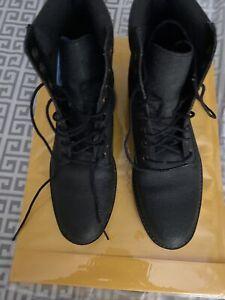 Timberland Women Sensorflex Black  Pebble Leather Boots Sz 9