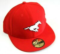 New Era CFL Clagary Stampeders Fitted Hat Size 7 1/4    57.7 cm   New