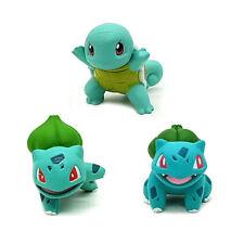 3 LOT POKEMON GO action figure toys Squirtle Bulbasaur Sitting&Sideways