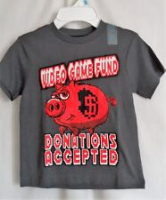 BOYS S 5-6 GRAY VIDEO GAME FUND DONATIONS ACCEPTED SHIRT NWT THE CHILDRENS PLACE