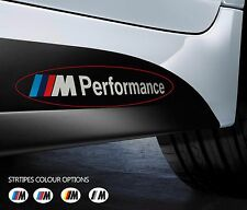 2 x BMW M PERFORMANCE Car VINYL STICKERS Bumper Window Side Skirt DECAL Graphics