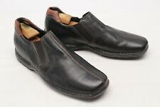 Cole Haan Mens Casual Loafers 11.5 M Black Leather Slip On Split Toe Shoes