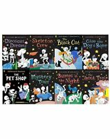 Funny Bones Collection By Allan Ahlberg 8 Books Set Ghost Train, Skeleton
