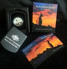 2011 Fine Silver $1 Proof Coin Kangaroo at Sunset ROYAL AUSTRALIAN MINT rare