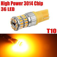 1X T10 168 3014 Chip Amber Yellow High Power Interior 36 LED SMD Light Bulbs