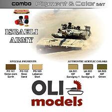 Israeli Army Idf Color & Pigment Combo Set 6x20ml Lifecolor Spg1