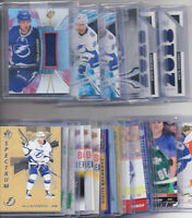 Nikita Kucherov Inserts Parallel Rookie Game Used Jersey - Choose From List