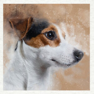 Dog - Jack Russell - Fabric Craft Panels in 100% Cotton or Polyester