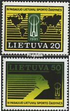 Lithuania 482-483 (complete issue) unmounted mint / never hinged 1991 Sports Gam