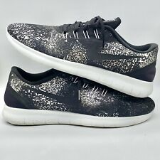 Nike Mens Free RN Print Running Shoes Sneakers Lightweight Black Size 12