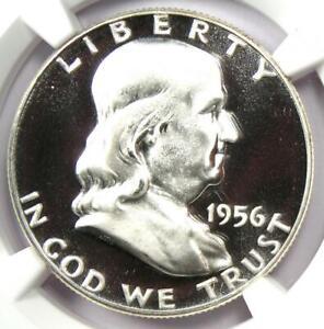 1956 PROOF Franklin Half Dollar 50C Coin - NGC PR69 Cameo (PF69) - $790 Value!