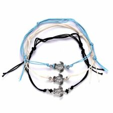 Turquoise Summer Jewelry Beach Charms Set Vintage Women Sea Turtles Rope Anklet