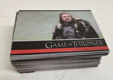 Game of Thrones Season 1 One 2012 Complete Base Card Set 1-72 Rittenhouse GOT