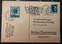 1938 Berlin Germany Postcard Commercial Cover Domestic Used