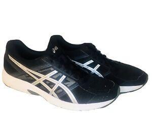Asics Mens Size 12.5 US Gel Contend 4 Ortholite Black & Silver Running Shoes