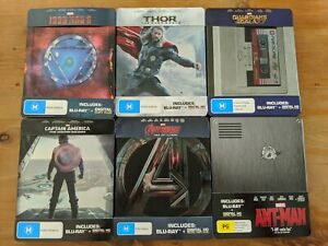 Complete Marvel Phase 2 Steelbook Collection (Guardians of the Galaxy Thor Cap)