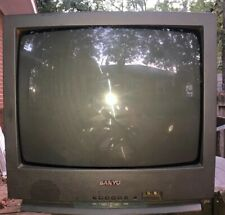 """SANYO DS19310 19"""" CRT TV Color Tube Television For Retro Gaming W/ Coaxial Port"""