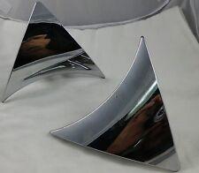 Ferretti Wheels Chrome Custom Wheel Center Cap Inserts Set of 2 #STW-145-C/TR360