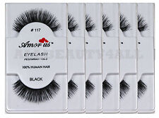 AmorUs 100% Human Hair False Eyelashes #117 (pack of 6 pairs) compare Red Cherry