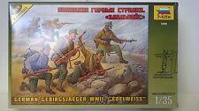 ZVEZDA 1:35 KIT GERMAN GEBIRGSJAEGER WWII EDELWEISS  ART  3599