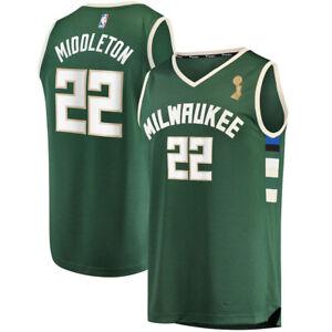 Men's Khris Middleton Milwaukee Bucks 2021 NBA Finals Champions Jersey
