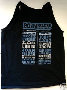 SANTA CRUZ BLUES FESTIVAL Concert Shirt ELVIN BISHOP LOS LOBOS LONELY BOYS LANG