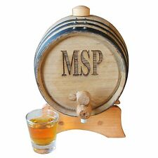 Personalized 2 Liter Mini-Oak Whiskey Barrel - Groomsmen Gift - Father's Day