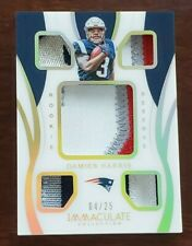 DAMEIN HARRIS 2019 IMMACULATE ROOKIE RESERVE RC 5X PATCH PATRIOTS **#/25** 🔥🔥