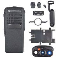 Black Replacement Repair front case Housing for motorola HT750 Portable radios