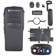 Black Replacement Repair front case Housing for motorola HT750 Portable radios