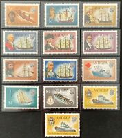 ANTIGUA. Sail Boats Full Set. SG323/34. 1972. MNH. Protected in Hawids. (LC07)