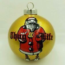 Thug Santa Spencer Gifts - Naughty Christmas Ball Ornament