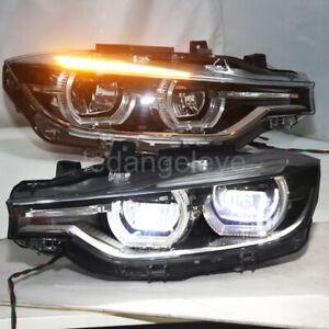 for 2013-2016 year BMW F30 F35 318 328i LED U style Headlights Fit AFS Version