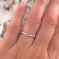 Neil Lane Curved Contoured Diamond Wedding Band Ring 1/3 tcw 14k White Gold
