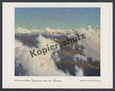 Claus montagnes aviation saison Heinkel He 111 Rostock warnemiinde mer de nuages 1937