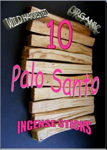 PALO SANTO HOLY WOOD ORGANIC🌕 Sacred INCENSE/SMUDGE STICKS 1 X 10 pack