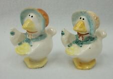 Ducks in Easter Bonnets with Baskets of Eggs Salt and Pepper Shaker Set