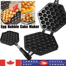 Waffle Eggettes Pan Nonstick Egg Bubble Maker Baking Mold Plate Pan Kitchen Tool