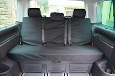 VW T5 T6 Caravelle 2003+ Rear Bench Waterproof Tailored Black Seat Covers