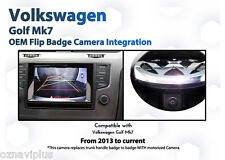 Volkswagen VW GOLF MK7 CAMERA BACKUP REVERSE Flip Badge reversing