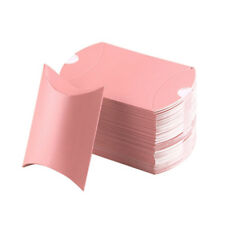 50pcs Pillow Paper Xmas Wedding Favors Baby Party Candy Bread Gift Bag Pink 50pcs